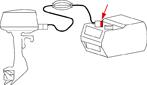 Tankanschluss Yamaha Mariner aus Messing